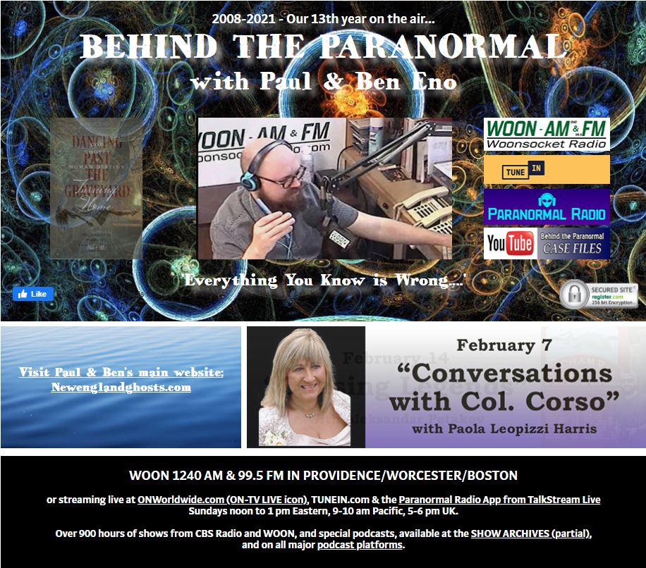 Behind the Paranormal w/ Paul Eno